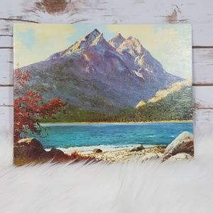 Other - Vintage Robert Wood Lithograph Art Print Tetons